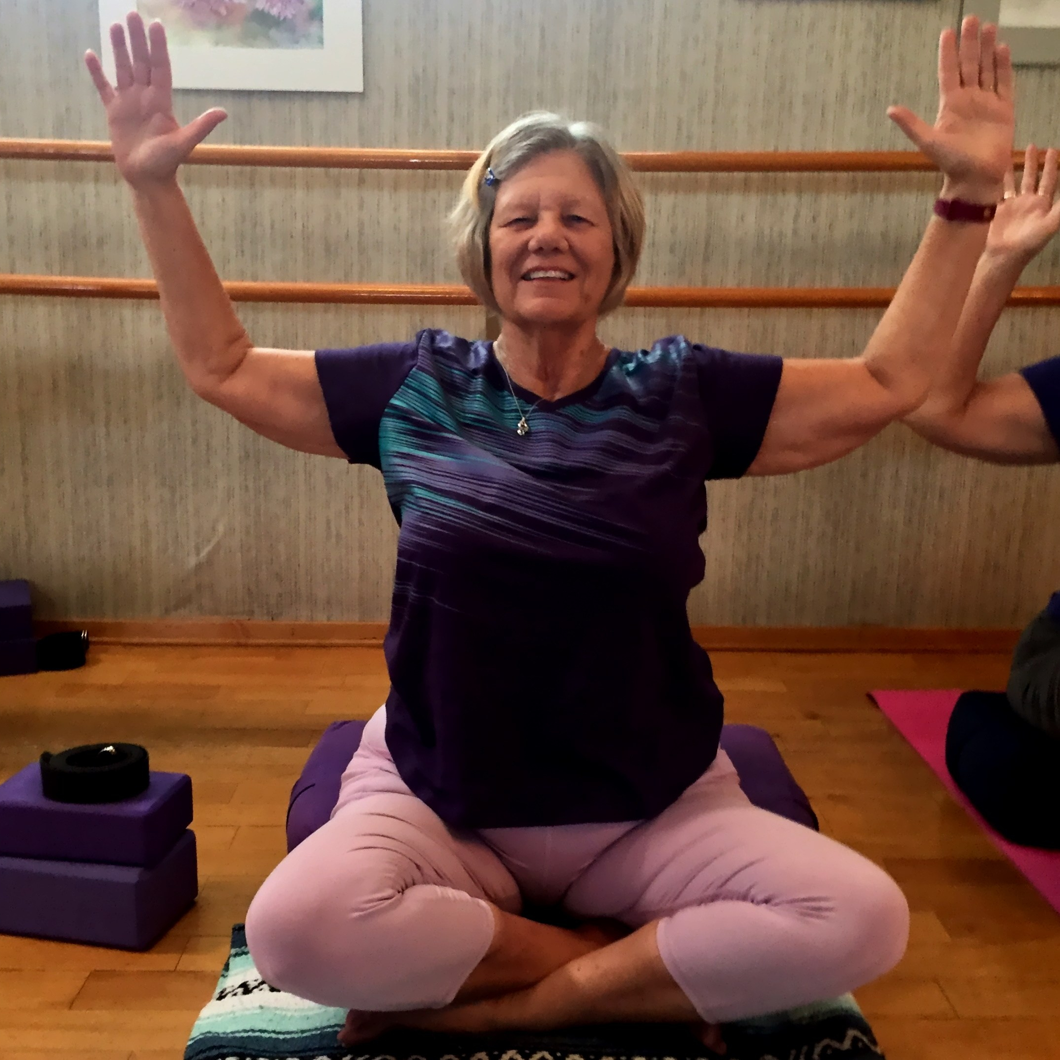 Happiness is Gentle Yoga with your heart filled with joy and love!