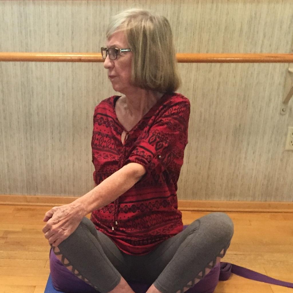 Stretching at Pat Smith Yoga