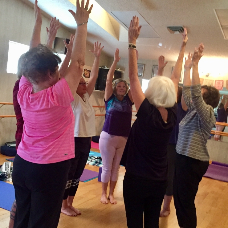 Stretching in Yoga Class | Pat Smith Yoga - Gentle Yoga for Women over 50 in Scottsdale, Arizona.